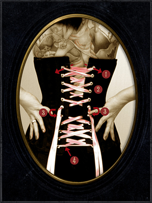 como atar un corset